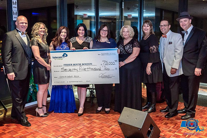 TeraNova presenting check for $75,000 to Fisher House from black tie fundraiser event in Boston